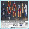 Модул с инструменти 3/3, вложка за количка, 17бр клещи избивачи и чук, BGS, 4011