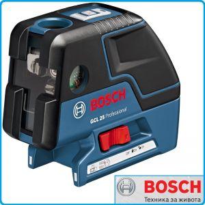 Комбиниран точков и линеен лазер, GCL25C, Professional, Bosch