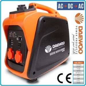 Генератор, за ток, агрегат, инверторен, 230V, 2.0kW, Daewoo, GIDA 2000 SI