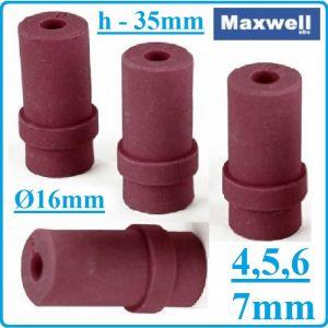 Дюзи, керамични, за пясъкоструйка, к-т, 4бр, h35mm, Ø16mm, 4-7mm, Maxwell