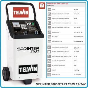 Зарядно, стартерно, устройство, 12-24V, 20-700Ah, Telwin, S3000S