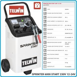 Зарядно, стартерно, устройство, 12-24V, 20-1550Ah, Telwin, S6000S