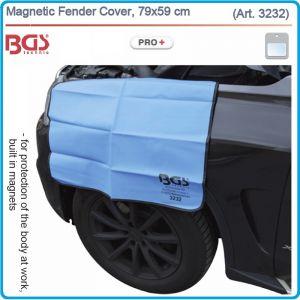 Магнитна предпазна подложка за калник, еко кожа 79x59 cm, BGS 3232