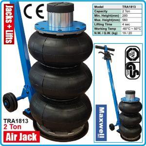 Крик, пневматичен 3 въздушни възглавници, подемник, 2000kg, 560mm, Maxwell, TRA1813