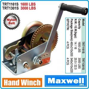 Лебедка, ръчна макара за изтегляне с колан / сапан, 50mm, 10m, 725kg или 1360kg, Maxwell