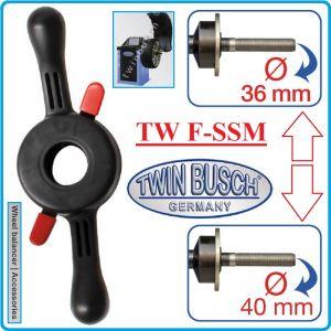 Ръкохватка за баланс машина, за вал Ø36mm или Ø40mm, Twin Busch, F-SSM