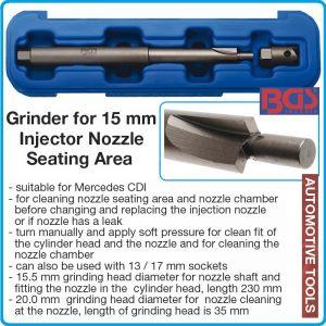 Фрезер к-т за чистене легла на дюзи, инжектори, 15mm, BGS, 62606