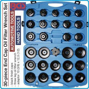 Ключове за маслен филтър, 30 части, универсален комплект, BGS, 1039