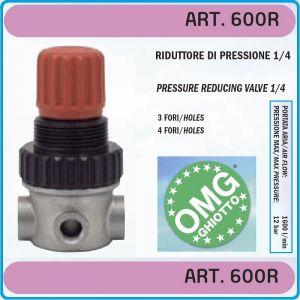 """Регулатор на налягане, редуцир вентил, 1/4"""", 12 Bar, 1600l/min, OMG, 600R"""