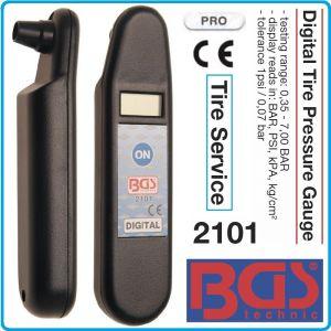 Манометър за гуми, цифров за налягане, 7Bar, точност, 1psi, BGS, 2101