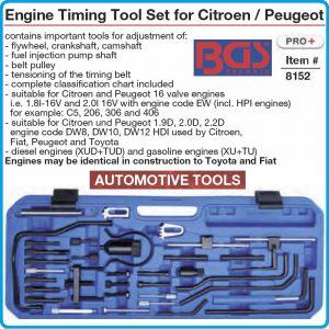 Комплект за двигатели PSA, центровка на Peugeot / Citroen Group, BGS, 8152