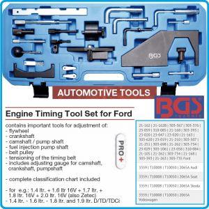 Комплект за двигатели Ford, центровка и синхронизиране, 23pcs, BGS, 8156