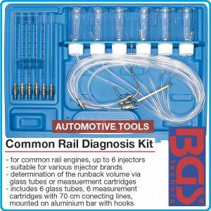 Комплект за диагностика, на 6 Common Rail дюзи, 8 части, BGS, 8101