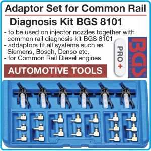 Адаптери к-т за диагностика, на Common Rail дюзи, 24 части, BGS, 8103