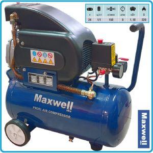 Компресор, маслен, бутален, директен, 24L, 150L/min, 8Bar, Maxwell, FA 1524