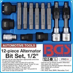 """Ключове за алтернатори, 10mm, специален к-т за динама, 1/2"""", BGS, 4246"""