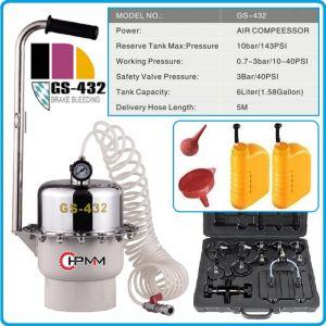 Уред за спирачки к-т, 6L, пневматичен за обезвъздушаване, 3Bar, HPMM, HP-432