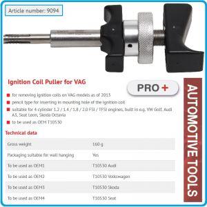 Инструмент за бобини, екстрактор тип щифт за VAG, BGS, 9094