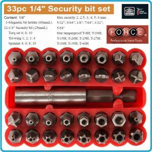 """Накрайници, 1/4"""", к-т 33 броя, битове специални, 6.3mm, Force, 2331"""