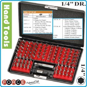 """Накрайници, 1/4"""", к-т 102 броя, битове специални, 6.3mm, Force, 21022"""