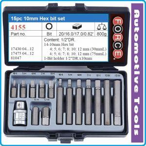 Шестограми, 10mm, накрайници шестостен, к-т 15 броя, Force, 4155
