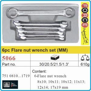 Ключове рязани звезди, за спирачни тръби, 6 броя, 8-19mm, Force, 5066