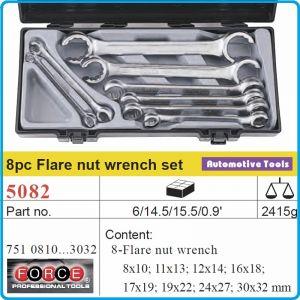 Ключове рязани звезди, за спирачни тръби, 8 броя, 8-32mm, Force, 5082