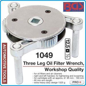 """Ключ за филтър три-палцов, маслен / въздушен, Ø95-160mm, 1/2"""", BGS, 1049"""