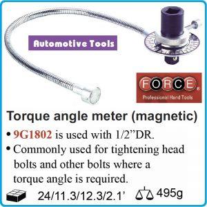 """Ъгломер с магнит, 1/2"""", градусомер механичен, Force, 9G1802"""