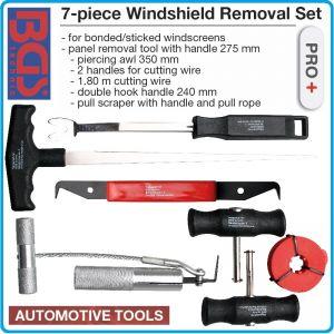 Инструменти к-т 7 броя, за автостъкла, 240/275/350mm, 1800mm, BGS, 60300