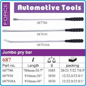 Щанга с PVC дръжка, лост за тенекеджии, 780mm / 910mm, Force, 687-780/910