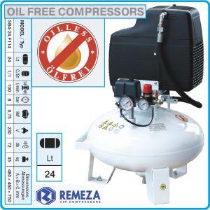 Компресор безмаслен, медицински, 24L, 60l/min, 8Bar, AirCast, 24F114