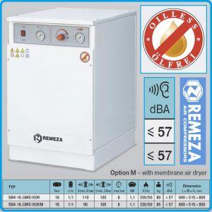 Компресор медицински, безмаслен, 16L, 95l/min, 8Bar, AirCast, 16GMS150K/М