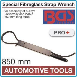 Ключ с ремък, 850mm, за фиксиране / монтаж на ролки Ø260mm, BGS, 1024