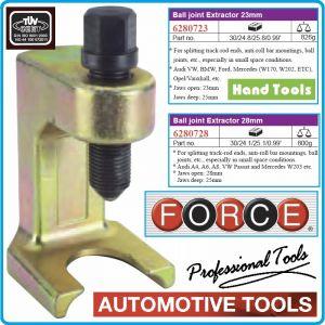 Екстрактор за ябълковидни болтове, 25x23-28mm, скоба с винт, Force, 628072-3/8