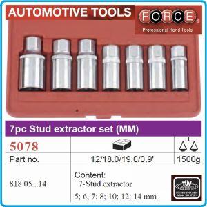 """Екстрактори за шпилки к-т 7ч, 5-14mm, вложки шпилковадачи 1/2"""", Force, 5078"""