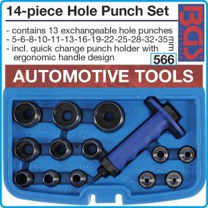 Замби сглобяеми, к-т 14ч, дорници за кръгли отвори, Ø5-35mm, BGS, 566