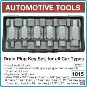 Ключове за маслени пробки 6 части, за ключ или вложка 21mm, к-т, BGS, 8281