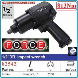 """Гайковерт пневматичен, ударен, 12.5mm, 1/2"""", 813 Nm, Force, 82542"""