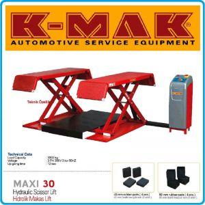 Подемник ножичен, двоен, електро-хидравличен 3t, K-Mak, maxi 30
