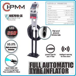 Инфлатор, прецизен уред за помпане на гуми, 10Bar, 22W, 230V, HPMM, HJS701B-LX