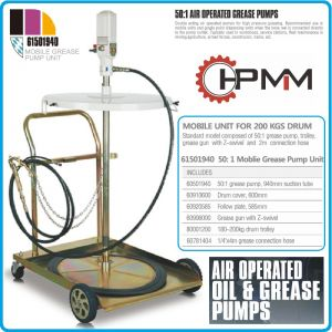Грес помпа, такламит за варел 210Kg с количка, к-т, HPMM, HP61501940