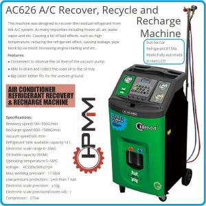 A/C, машина за автоклиматици, автоматична станция за R134a, HPMM, AC626