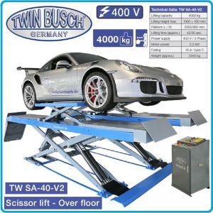 Подемник двоен ножичен, крик двуколонен, 4t, 1.9m, Twin Busch, SA 40 V2