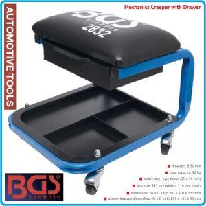 Стол за механици, с чекмедже и поставка, 365x210mm, h330mm, BGS, 2832