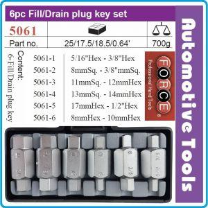 Ключове за пробки к-т 6 части, ключове за картер 21mm, Force, 5061