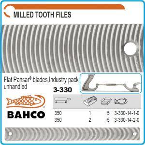 Пила за ренде 350x35x4.5mm, за тенекеджийски държач, BAHCO, 3-330-14-1/2