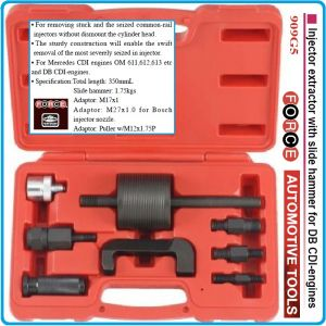 Скоба за дюзи с чук, 350mm, за Common Rail инжектори, к-т 8бр, Force, 909G5