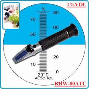 Рефрактометър, оптичен, за алкохол, 80%Vol, Sinotech, RHW80ATC