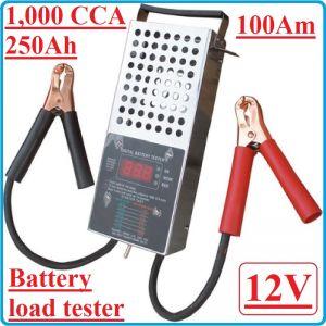 Тестер, за акумулатори, товарна вилка, 12V, BGS, DBLT 63500